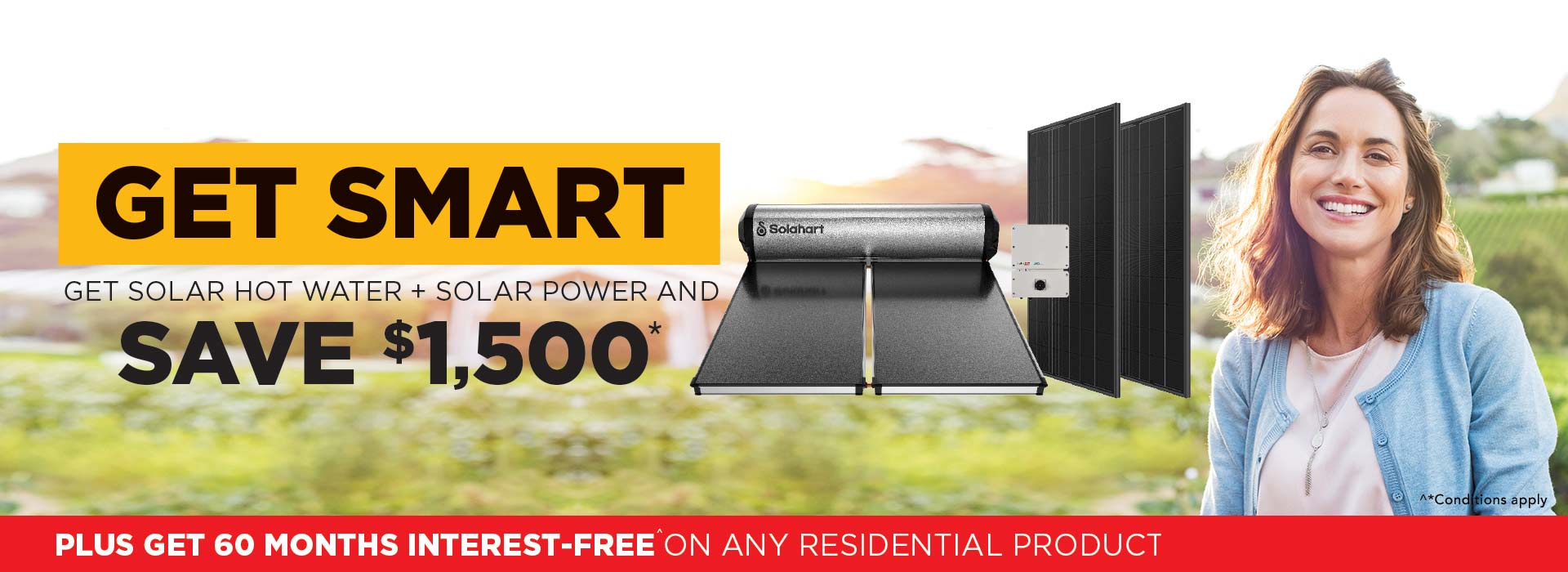 Get Solahart Solar Hot Water and Solar Power now and save $1500